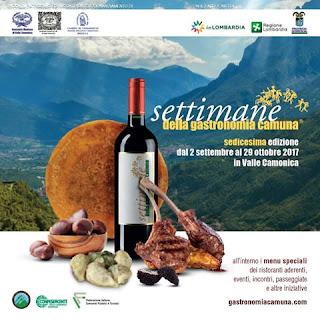 Settimane della gastronomia camuna dal 2 settembre al 20 ottobre Valle Camonica (BS)