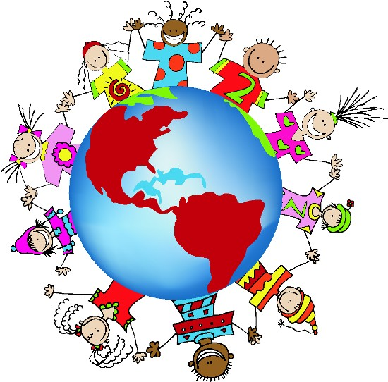 MULTICULTURAL: FRIENDSHIP GLOBE ART + BORDER