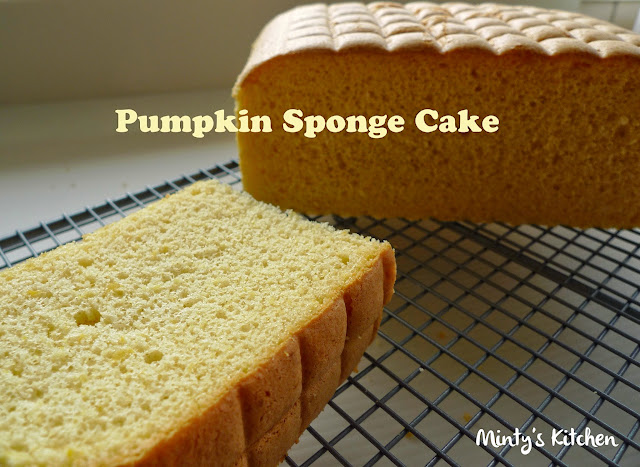 Resultado de imagen de sponge cake with pumpkin