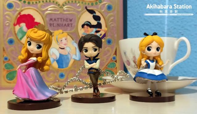 Review de las Q-Posket Petit de Aurora, Flynn y Alicia de Disney - Banpresto