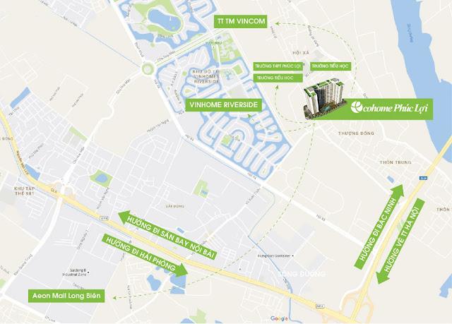 vị trí tọa lạc của dự án chung cư ecohome phúc lợi