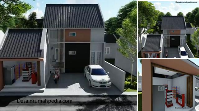 Desain Rumah Minimalis 2 Kamar Tidur Ukuran 9 X 12 M Dengan Toko Dan Carport Desainrumahpedia Com Inspirasi Desain Rumah Minimalis Modern