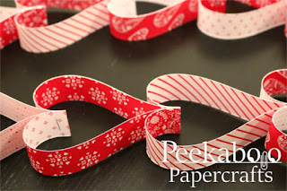 Easy Paper Heart Chain Tutorial - Examples of finished paper heart chains