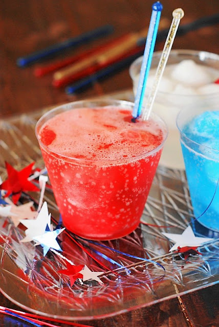 Red Cherry Italian Ice Float for 4th of July Image