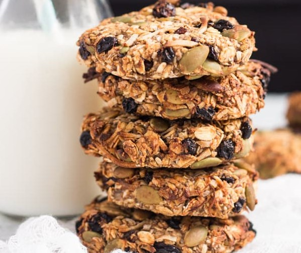 SUPER HEALTHY GRAB AND GO BANANA BREAKFAST COOKIES #diet #lowcarb