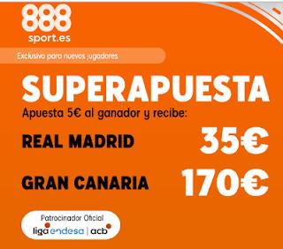 888sport superapuesta acb Real Madrid vs Gran Canaria 24 noviembre 2019