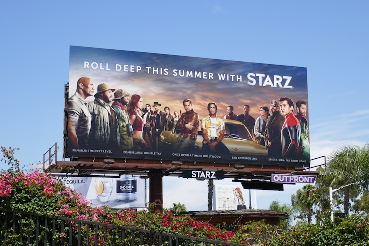 Starz 2020 summer movies billboard