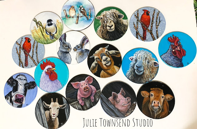 Farmhouse Art, Farm Art, Julie Townsend Studio
