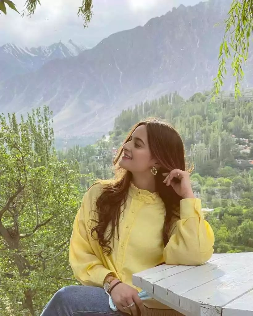 Aiman Khan Vacationing With Family In Northern Areas Of Pakistan