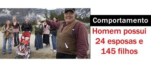 Homem possui 24 esposas e 145 filhos.