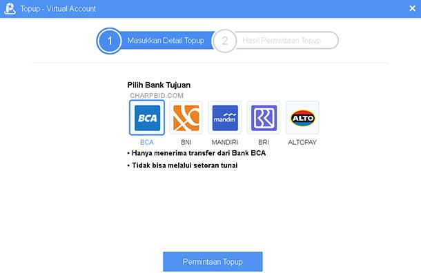 Tambah Saldo AirPay dengan Virtual Account