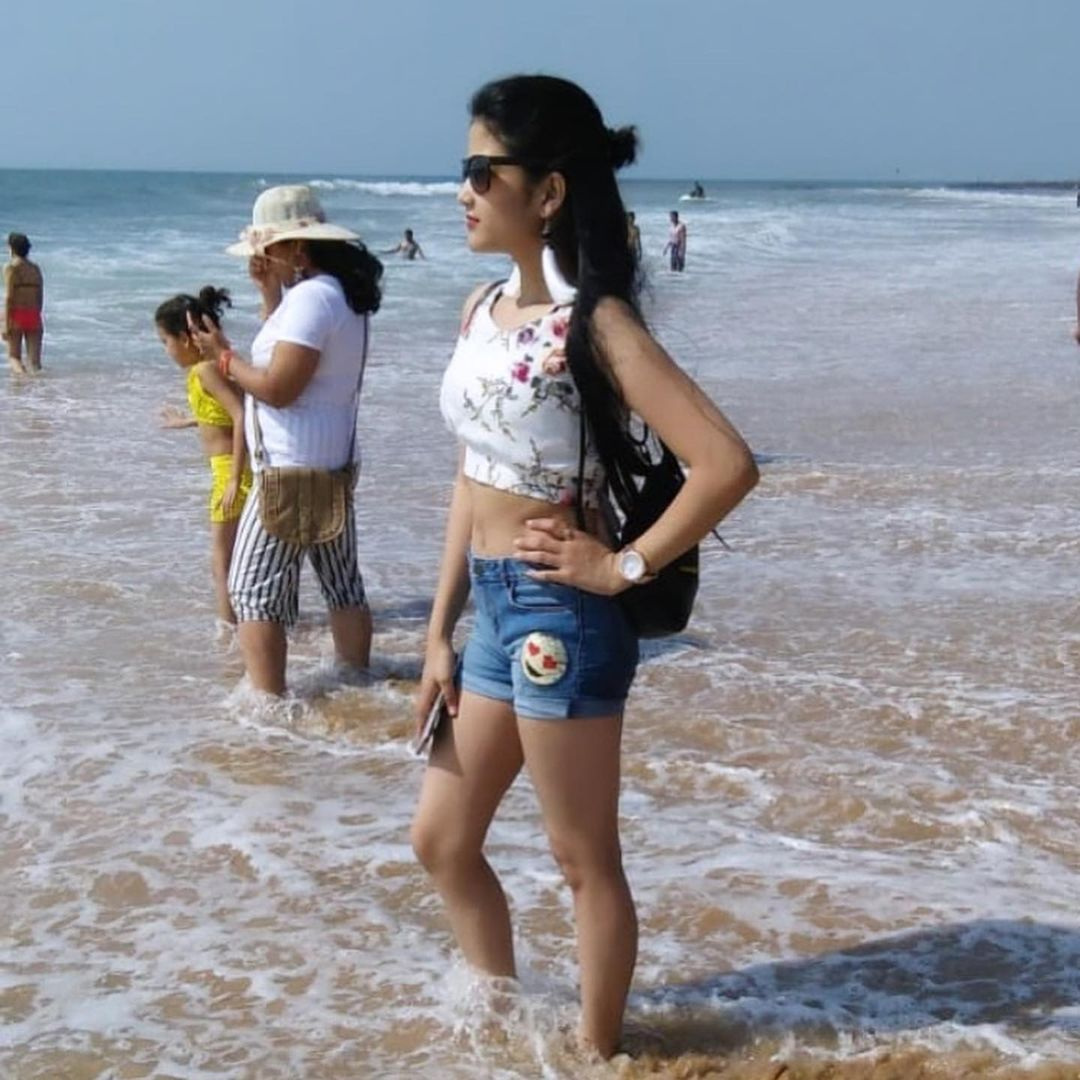 Komal Negi on beach photo