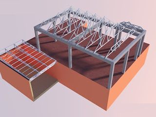 Rancangan bentuk kuda-kuda baja ringan galvalum
