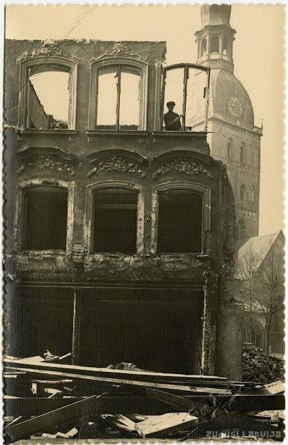 1937 год. Рига. Площадь 15 Мая. Снос дома