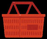 買い物かごのイラスト(赤)