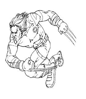 Ausmalbilder X-Men zum Ausdrucken