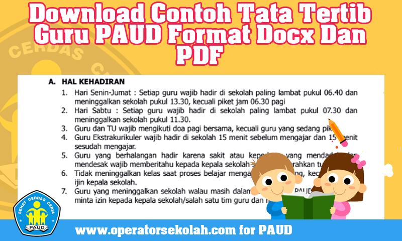 Download Contoh Tata Tertib Guru PAUD Format Docx Dan PDF.jpg