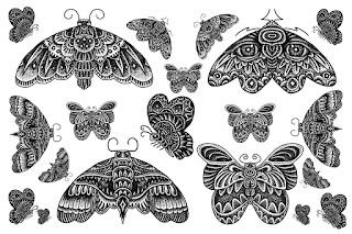 Butterfly Tummy Tuck Tattoo