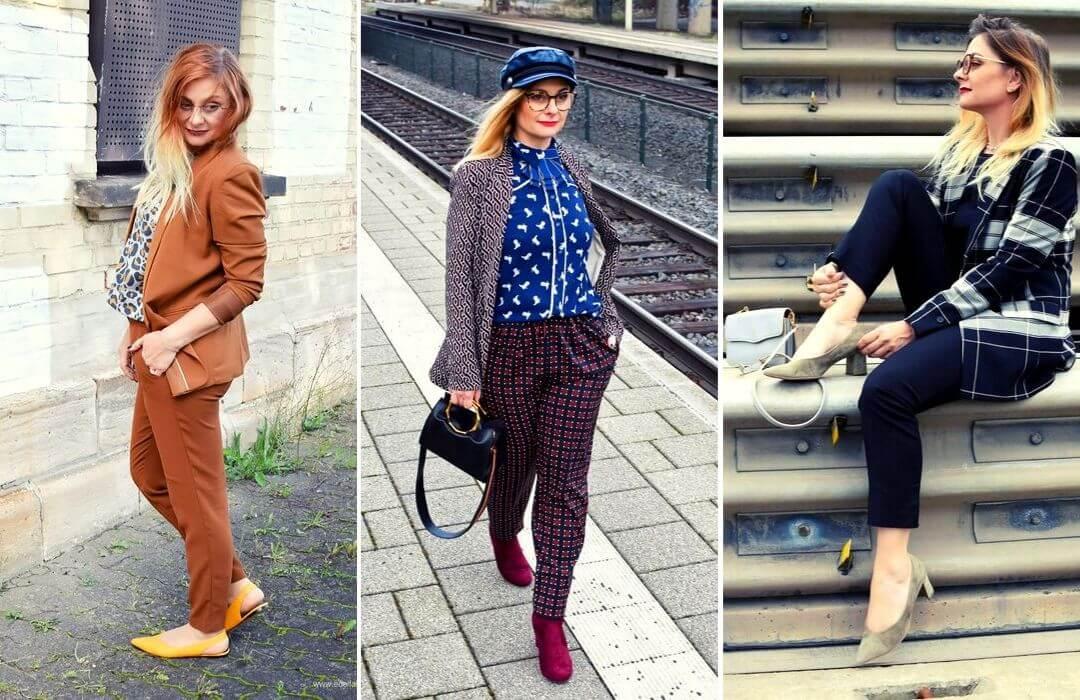 Hosenanzug-Damen-Modeblogger