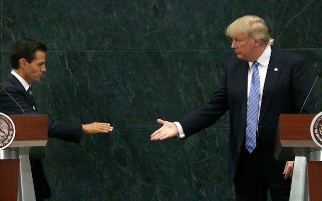 Donald Trump, Peña Nieto, saludo de mano