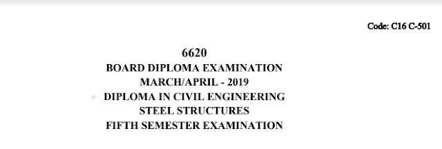 Sbtet Steel Structures Previous Question Paper c16 civil