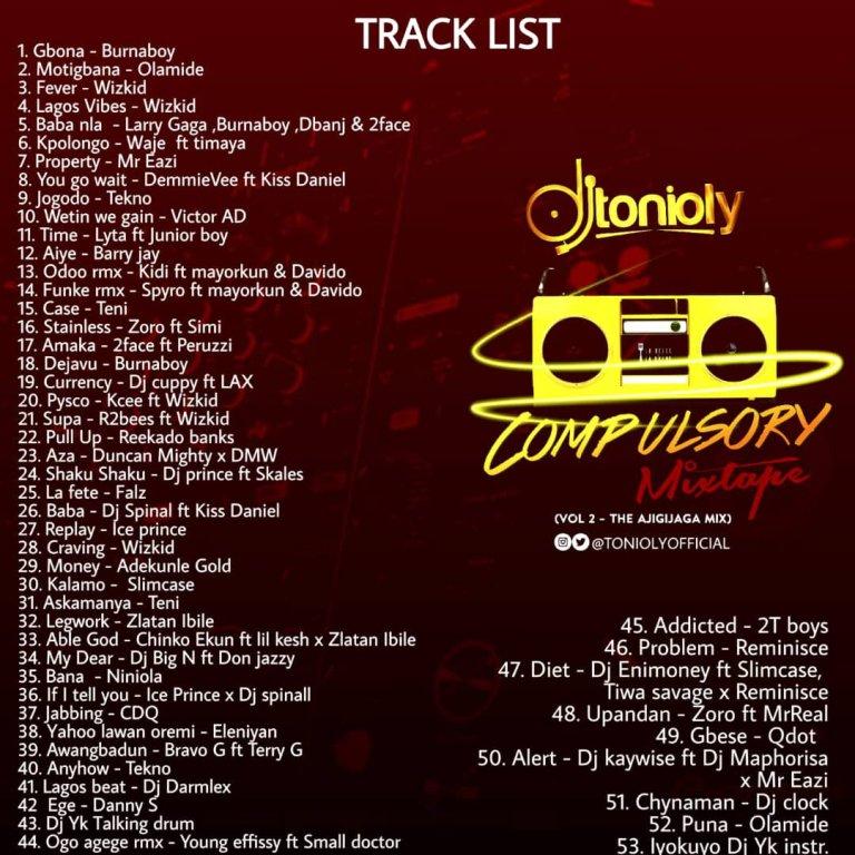 AYAYA MIXTAPE: DJ Tonioly – The Compulsory Mixtape (Part 2