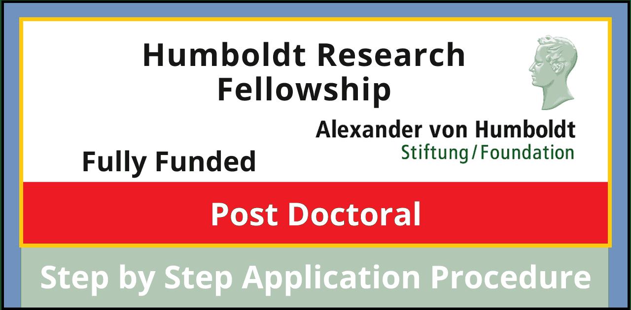 زمالة Humboldt Research 2022 (ممولة بالكامل)
