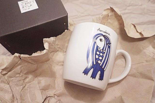 居家生活 ░【波佐見瓷器】Amabie阿瑪比埃馬克杯,可愛妖怪一龍陶苑原創設計杯【波佐見瓷器】阿瑪比埃馬克杯給點生活來些不同的點綴✨