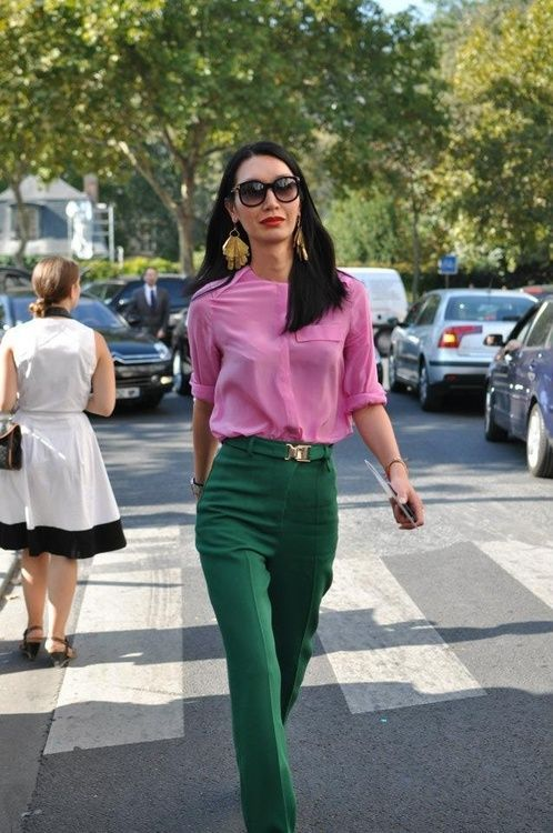 GREEN AND PINK FASHION