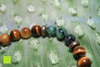 zoomen: AmorWing Tigerauge und Ruby Zoisit Gebetsarmband für Damen/ Herren