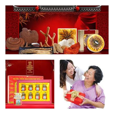 Địa chỉ mua quà biếu tết cho bố mẹ vợ chồng tại hà nội
