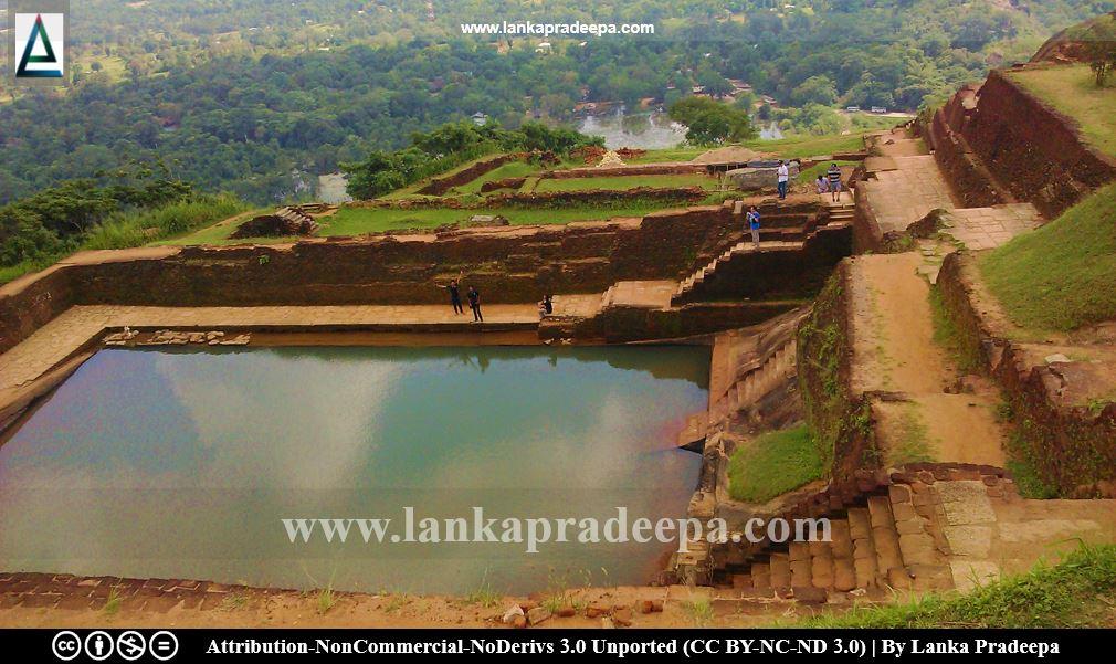 Ponds on the summit of the Sigiriya rock