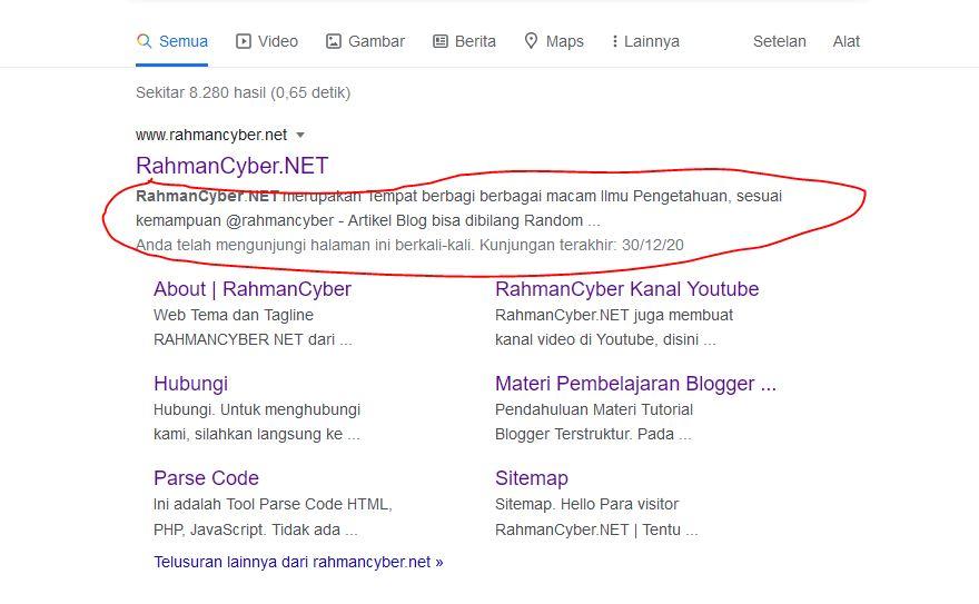 Google Snipet