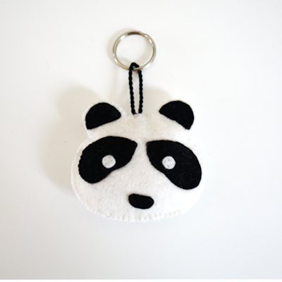 Vilt patroon panda gratis free felt pattern panda