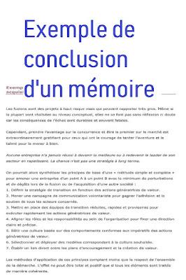 Conclusion mémoire exemple word