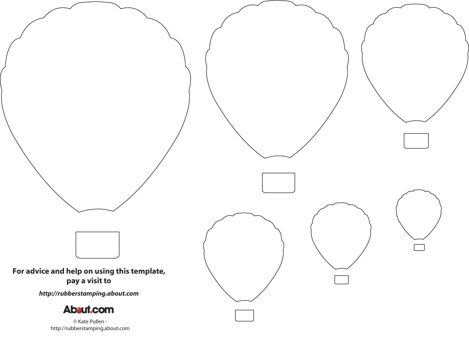 Balloon Zilla Pic: Free Printable Balloon Template