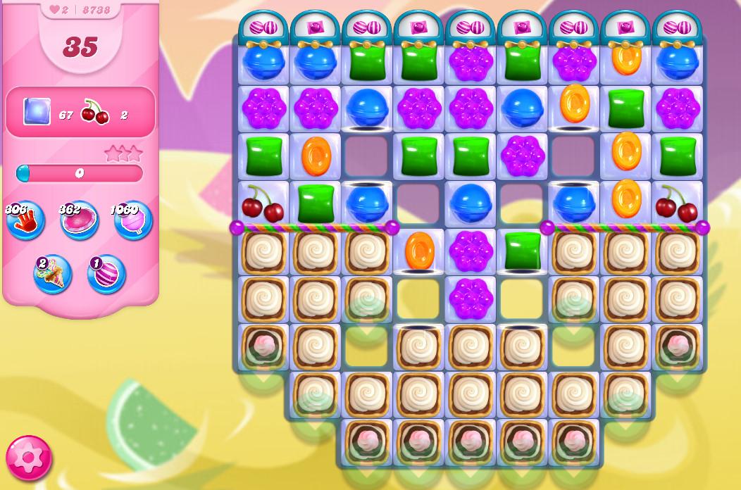 Candy Crush Saga level 8738