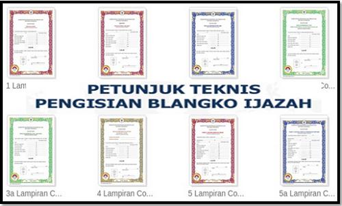 Juknis Penulisan Blangko Ijazah SD SMP SMA SMK 2017