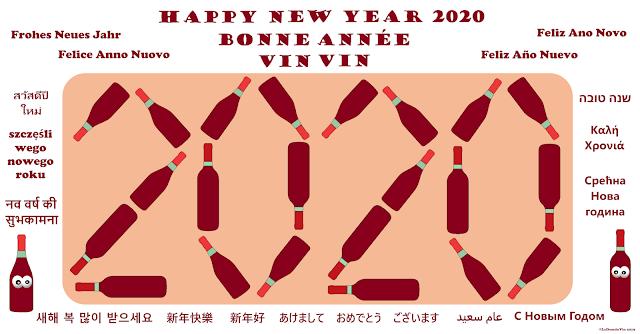 Happy New Year 2020 & Bonne Année Vin Vin  by ©LeDomduVin 2019