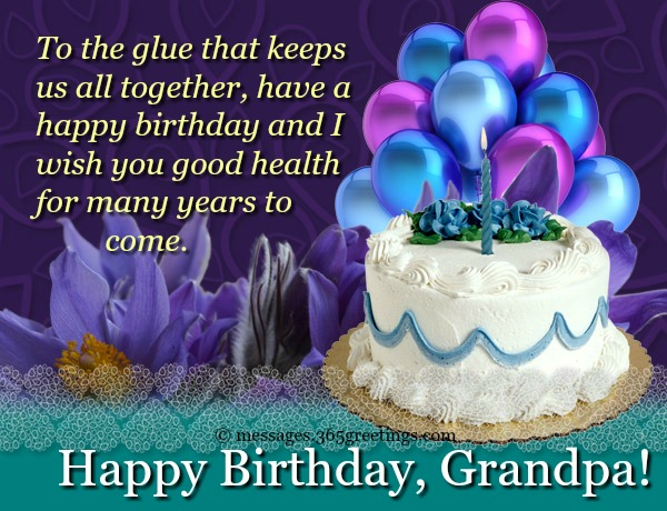 Happy Birthday Grandpa From Granddaughter