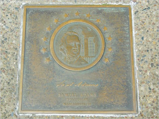 Placa de Samuel Adams en Filadelfia, Pensilvania