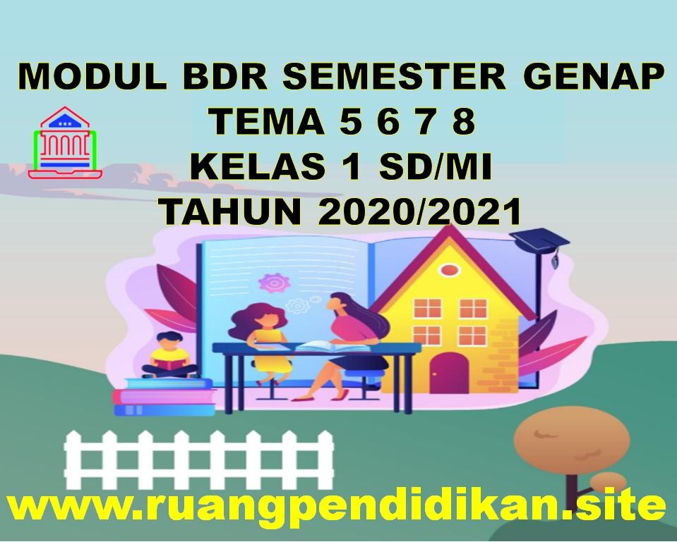 Modul BDR Tema 5 6 7 8 Kelas 1 SD/MI