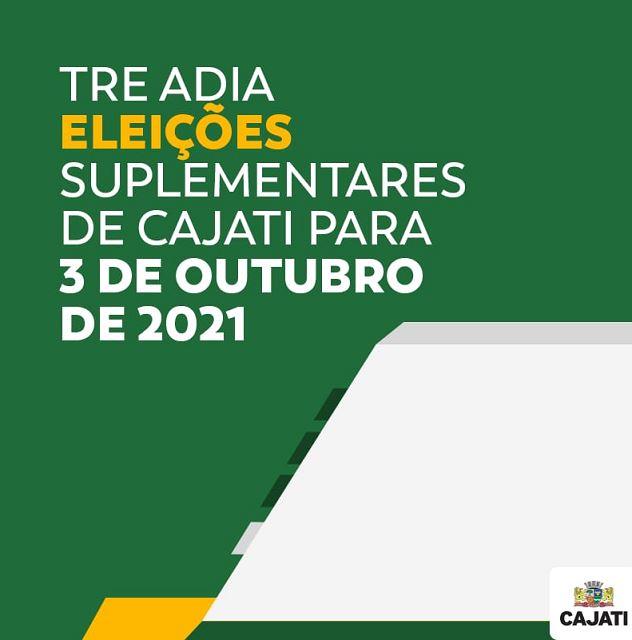 TRE-SP comunica nova data para as eleições suplementares de Cajati
