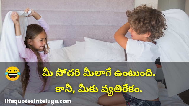 Funny Sister And Brother Quotes In Telugu