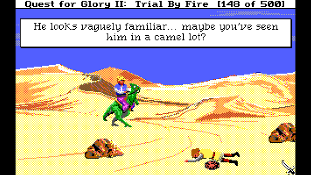 Screenshot of King Arthur in Quest for Glory II