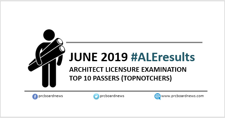 ALE RESULT: June 2019 Architect board exam top 10 passers