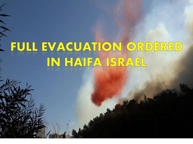 In Haifa, Israel the government has ordered full evacuation for its residence therein because of the fire.     The video below was taken and posted by a Filipino worker in Haifa, Israel.        Earlier yesterday, a fire has started in the towns of Romema and Ramot Sapir, then Rishon Lezion According to some Filipino caregivers living in the area, the fire started in several locations and it is believed that terrorists are the one who set the fire in different location.   During the fire in Israel a video has been released showing Palestinians had been celebrating for the fire intifada.     As the fire scatter and the city burn out of control, an evacuation in the city of Haifa has been declared by the government and foreign help has also been sought.      Several arrests of arsonists have already been made. Including these two  students at the University of Haifa.              ©2016 THOUGHTSKOTO