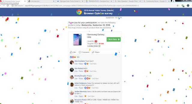 "Eliminar ""Chrome search contest 2020"" (Mensajes con premios falsos - Scam)"