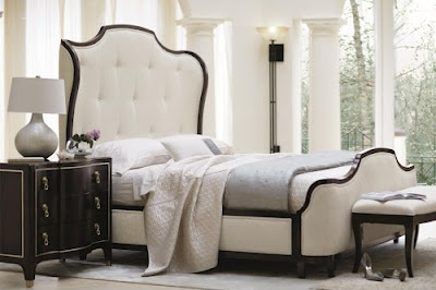All white bedroom from Baer's Furniture