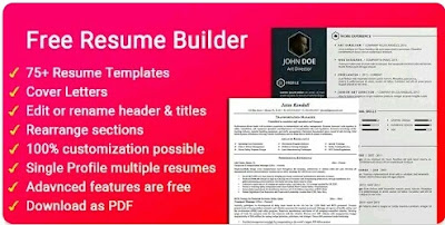 Resume Builder Free CV Maker Template Format App